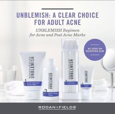 Rodan+Fields Unblemish is the #1 selling premium skincare brand in the United States! Try it today and see for yourself why!!  klhageman@sbcglobal.net https://kristyhageman.myrandf.com/Shop #acne #unblemish #clearskin