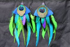 Peacock request, she asked for big and bold, you can find me on fb - Fashionable Feathers.