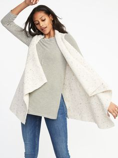 Shop Old Navy's Textured-Knit Sweater Vest for Women : Cascading open front. ,Plush, rib-knit yarn, with comfortable stretch. Shop Old Navy, Maternity Wear, Knitting Yarn, Rib Knit, Family Photos, Bell Sleeve Top, Vest, Man Shop, Sweat Shirt