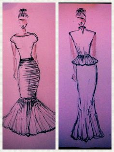 Fashion design drawings #design #fashion