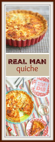 Real men DO eat quiche. Especially when it's loaded with bacon, sweet Italian sausage, cheddar cheese and caramelized onions. Perfect for Father's Day breakfast (lunch and dinner)!