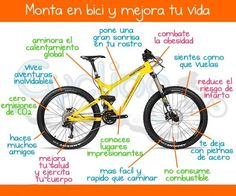 Beneficios de la bicicleta Cycling Quotes, Cycling Tips, Infographic Examples, Infographics, Ap Spanish, Teaching Time, Gear S, Kayak Fishing, Positive Life