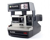 Vintage Polaroid Camera Sun 600 LMS Retro Hipster Instant Photo