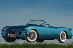 "1954 Chevrolet Corvette Blue Flame ""...a 54 convertible too, light blue..."""