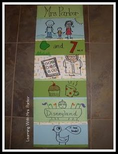 A Yard of Me, idea from Mrs. Parker's blog, is a great measurement activity and get to know you activity.  See her blog for the directions (posted 7/25/11)
