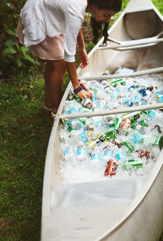 #wedding #canoe #soda this would be perfect for my dream beach wedding !