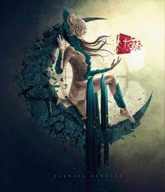 Ouvrages D'art, Surreal Art, Surreal Portraits, Fantasy Portraits, Gothic Art, Types Of Art, Dark Art, Female Art, Digital Illustration