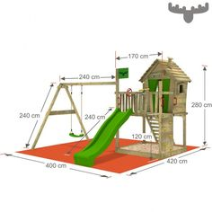 """Get wonderful pointers on """"playground outdoor diy"""". They are accessible for you on our internet site. Kids Backyard Playground, Backyard Playset, Playground Set, Backyard Playhouse, Build A Playhouse, Backyard For Kids, Outdoor Playset, Kids Outdoor Play, Outdoor Play Areas"""