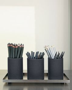 drawing pencils (tray at container store in the bathroom section)