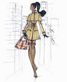 Stroll In The City: 'The Camel Coat' by Hayden Williams. williams in the city camel coat illustration sketch art Hayden Williams, Fashion Illustration Sketches, Fashion Sketchbook, Fashion Design Sketches, Fashion Drawings, Sketch Fashion, Fashion Artwork, Sketch Design, Design Art