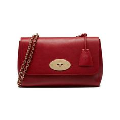 Medium Lily in Poppy Red Natural Leather | Women | Mulberry