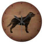 Greater Swiss Mountain Dog Silhouette Rustic Large Clock  #Clock #Greater #Large #Mountain #Rustic #RusticClock #Silhouette #Swiss The Rustic Clock