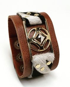 Joxasa Eye of Angola leather cuff.