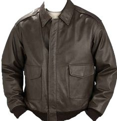 A nice relax fit Men's A2 Bomber Jacket made of durable soft leather and warm poly-fill lining.