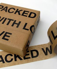 Plakband Packed with love
