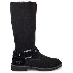 UGG Braiden ($250) ❤ liked on Polyvore featuring shoes, boots, cuff shoes, ugg, ugg footwear, cuffed boots and traction shoes