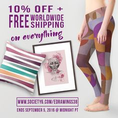 ✰ 10% OFF + FREE Worldwide Shipping on Everything on Society6 thru September 5 ✰…