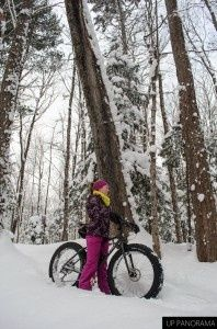 A fat bike in a pristine Keweenaw Landscape. Fat bikes (with 3.5  tires) are specifically designed for operation on soft materials like sand and snow. #fatbike #bicycle
