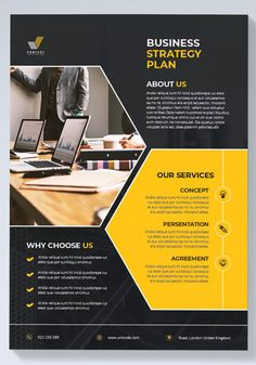 Modern Business Flyer by UnicodeID on Envato Elements Corporate Brochure Design, Graphic Design Brochure, Brochure Layout, Flyer Layout, Corporate Flyer, Graphic Design Posters, Business Card Design, Powerpoint Design Templates, Business Flyer Templates