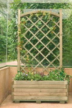 Jardineras y maceteros de madera. Interior y exterior. - Santiago