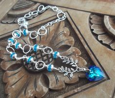 Vivid Blue Swarovski Crystal Heart Pendant Necklace £20.00