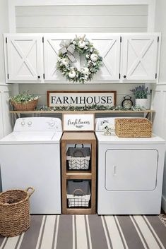 Below are the Farmhouse Laundry Room Storage Decoration Ideas. This post about Farmhouse Laundry Room Storage Decoration Ideas was posted … Small Laundry Rooms, Laundry Room Organization, Laundry Room Design, Laundry Decor, Storage Organization, Decorate Laundry Rooms, Laundry Area, Organized Laundry Rooms, Organization Ideas For The Home