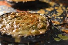 Cheesy Portobello Mushroom Monterey Jack Cheese, Cheese Appetizers, Portobello, Mushroom Recipes, Cheese Recipes, Finger Foods, Mozzarella, Steak, Stuffed Mushrooms