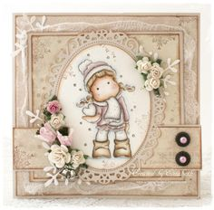 Live & Love Crafts' Inspiration and Challenge Blog: Pink Week- Christmas card