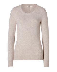 J BRAND Cashmere Elena Pullover in Oatmeal Heather