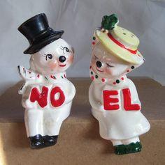 1950s Noel Salt Pepper Shaker Lipper Mann Sitting Snowman Christmas Vtg | eBay