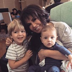 Marie and two of her grandbabies.