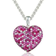 Effy Jewelry Balissima Pink Sapphire & Ruby Heart Pendant. Great for any occasion.  http://www.ebay.com/itm/150936903844