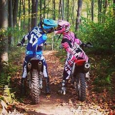 Loving couple passionate by motorcross