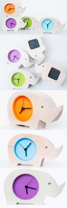 Wooden Animal Hippo/Elephant Desk Clock Art  Deco style.,Wood Hippo/Elephant  Desk clock Made from Wooden  and Metal