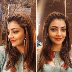 Kajal aggarwal new look kajal aggarwal official fan page Hair hair style new look girl - Hair Style Girl Engagement Hairstyles, Indian Wedding Hairstyles, Ethnic Hairstyles, Bride Hairstyles, Indian Hairstyles For Saree, Saree Hairstyles, Pony Hairstyles, Travel Hairstyles, Hairstyle Wedding