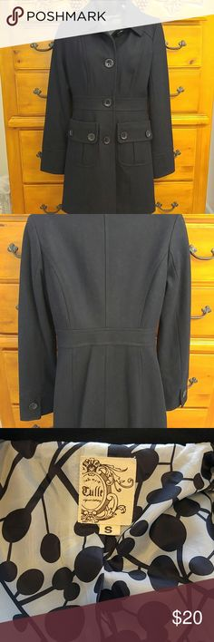 Women's winter coat❄ Very pretty just above the knee coat.dark navy color.great condition. Tulle Jackets & Coats Pea Coats