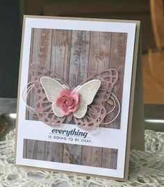 Hey There . Stampin Up Karten, Stampin Up Cards, Cute Cards, Diy Cards, Butterfly Cards, Butterfly Kisses, Get Well Cards, Card Tags, Creative Cards
