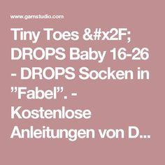 """Tiny Toes / DROPS Baby 16-26 - DROPS Socken in """"Fabel"""".  - Kostenlose Anleitungen von DROPS Design"""