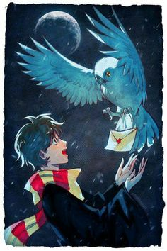 Adorably awesome Harry and Hedwig artwork