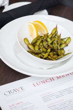 Edamame with sriracha soy glaze at Crave, Mall of America
