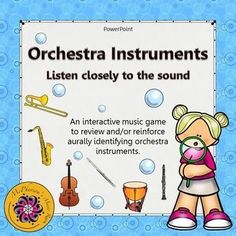 A fun interactive music game to reinforce recognizing non-pitched percussion instruments with your elementary music students and it's free!