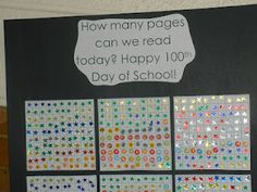 100th day of school idea...maybe use books instead and have kids read with a partner until we get there!