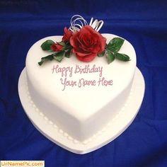 Best 1 Website For Name Birthday Cakes Write Your On Heart Icecream