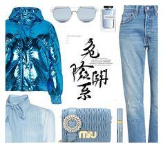 """Baby Blue"" by rasa-j ❤ liked on Polyvore featuring Levi's, Miu Miu, Ienki Ienki, Estée Lauder, Yves Saint Laurent, For Art's Sake, miumiu, yvessaintlaurent, Levis and modaoperandi"
