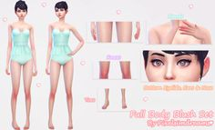 Full Body Blush Set at Pixelsimdreams via Sims 4 Updates Sims 4 Body Mods, Sims Mods, Free Sims 4, The Sims 4 Skin, Sims 4 Anime, Sims 4 Cc Makeup, Sims4 Clothes, Sims 4 Characters, Sims 4 Mm Cc