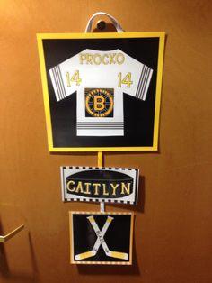 My latest creation. Hockey door sign.