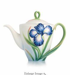 Franz Eloquent Iris flower teapot