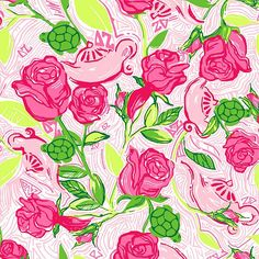 """Lilly Pulitzer """"Delta Zeta"""" print. Picture Yourself in Paradise at www.floridanest.com"""