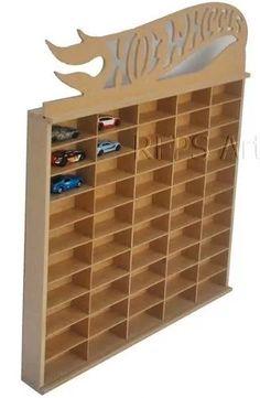 porta hotwhells para 50 carrinhos em mdf cru Hot Wheels Storage, Toy Car Storage, Hot Wheels Display, Wall Display Case, Display Shelves, Shelving, Home Decor Furniture, Kids Furniture, Matchbox Car Storage