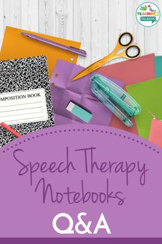 How Can I Keep it Simple Using Speech Therapy Notebooks? Thousands of SLPs use them as a tool for therapy in schools and in the clinic setting. Speech Therapy Organization, Speech Therapy Activities, Language Activities, School Organization, Speech Language Therapy, Speech Language Pathology, Speech And Language, Childhood Apraxia Of Speech, Progress Monitoring